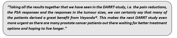 Dr Gisela Mautner, Noxopharm's Chief Medical Officer commented