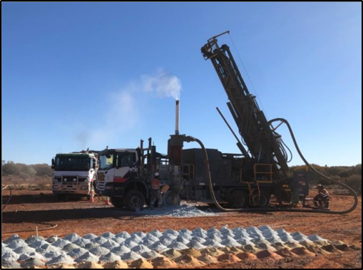 Drilling at Parks Reef – July 2020 (Source: ASX Announcement)