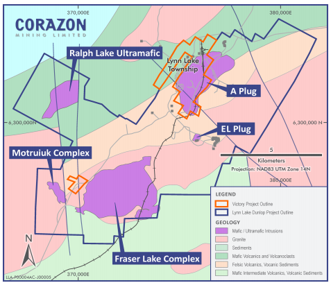 Lynn Lake Project and Prospective Areas Source: Corazon
