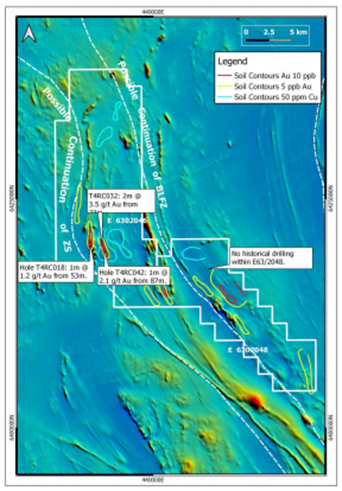 Drilling intersections at the exploration licence applications Source: Shree Minerals