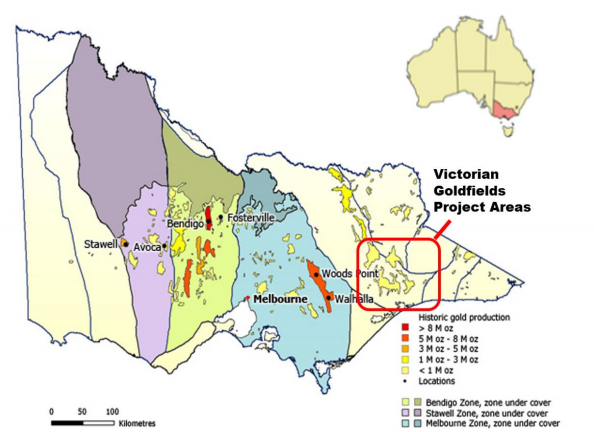 Victorian Goldfields Project Source: First Au ASX Update 25 September 2020