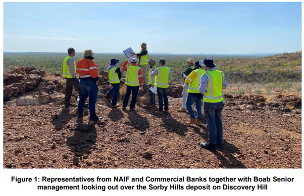 Sorby Hills, NAIF, Site Visit, Commercial Banks